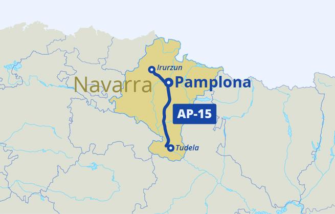 Road Map Of Northern Spain.Ap 15 Audenasa Grupo Itinere